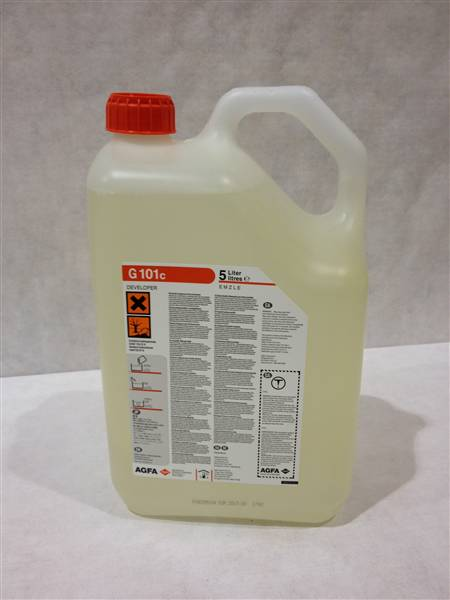 AGFA G101C DEVELOPER 1X5LTR Concentrate makes 15 LTR